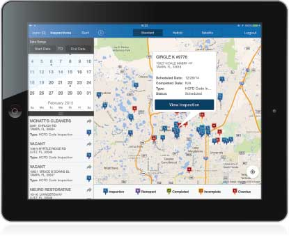 Inspections Routing Features Screen Shot